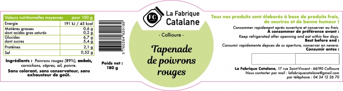 Fabrique Catalane Etiquette 1e-version