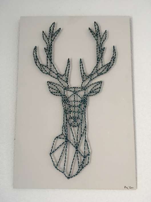 Tableau-string-art-animaux-cerf