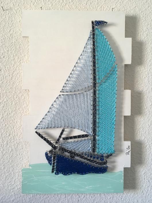 Tableau-string-art-bateau