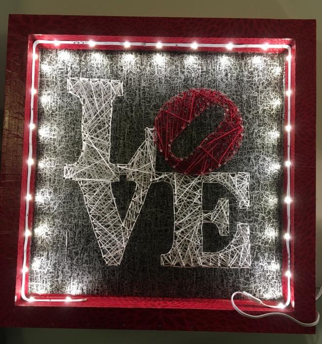 Tableau-string-art-love