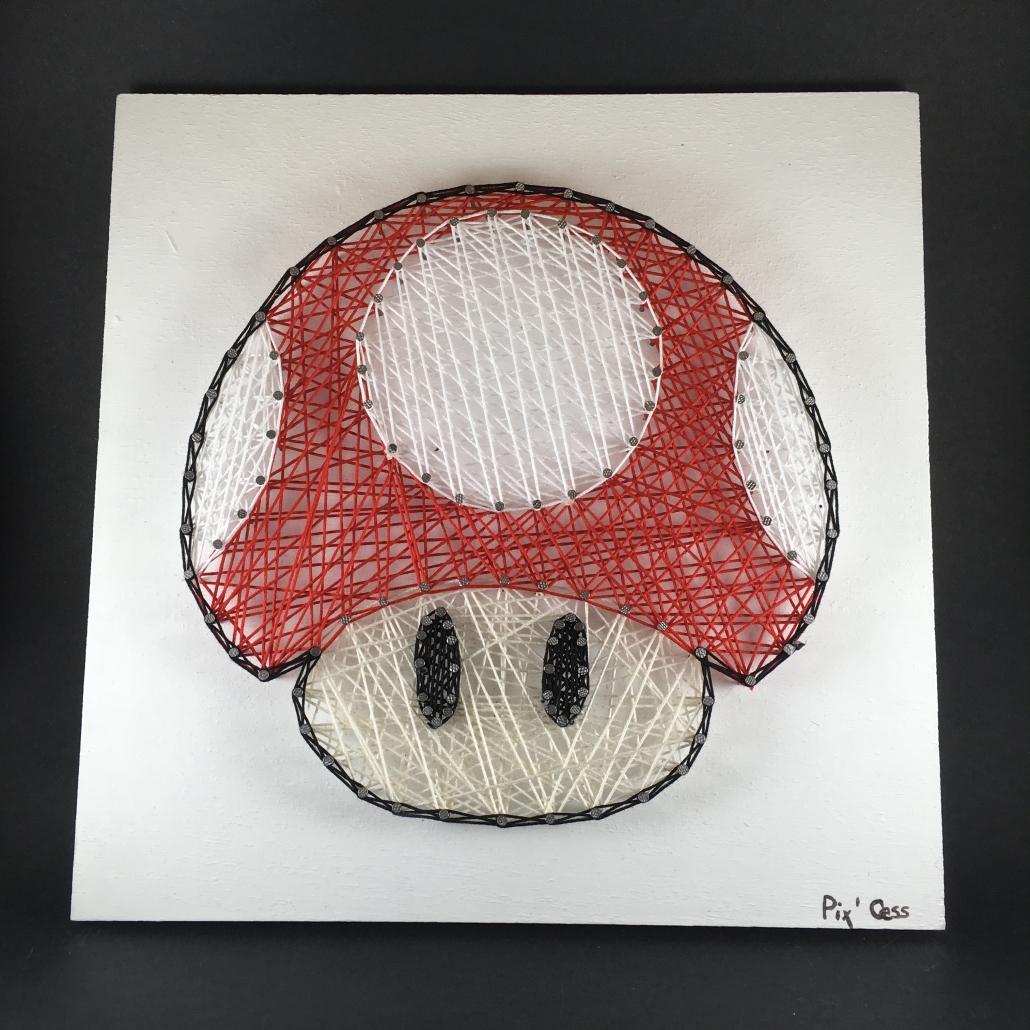 Tableau-string-art-mario-champignon