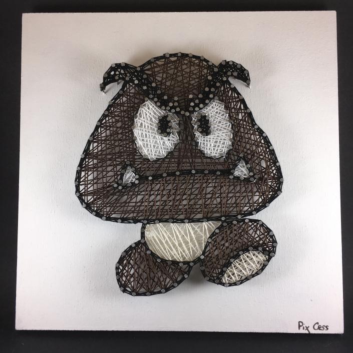 Tableau-string-art-mario-goomba
