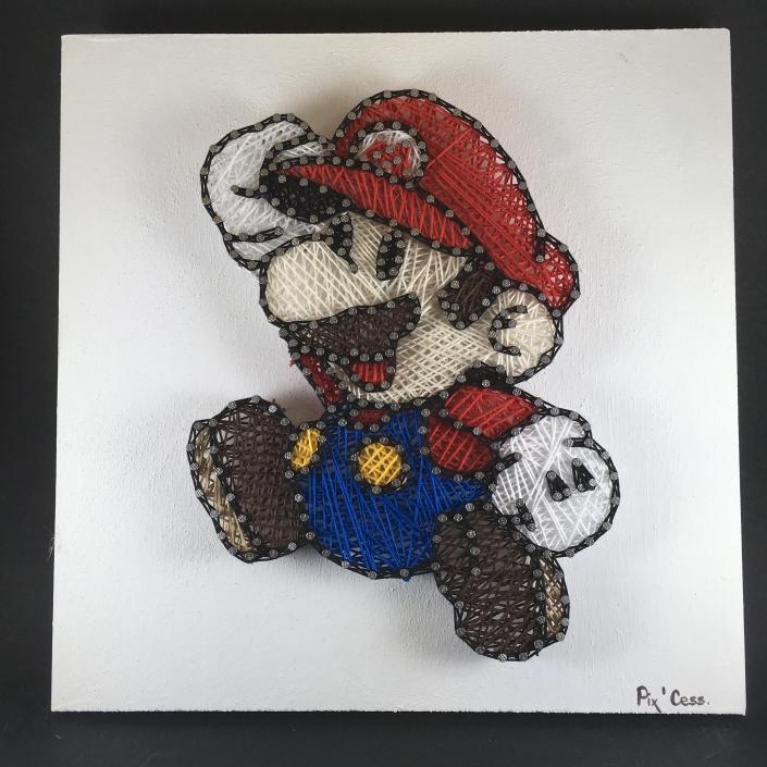 Tableau-string-art-mario