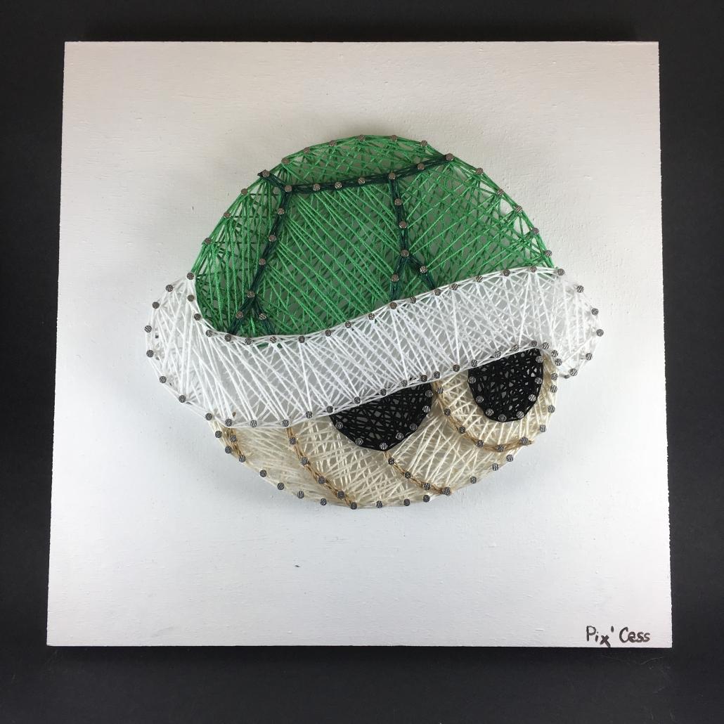 Tableau-string-art-mario-tortue