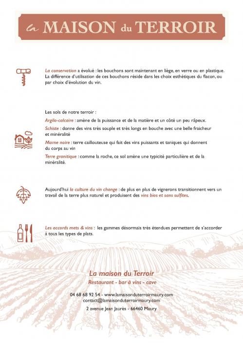 Cécile Thore Création Maison du terroir, infos vin QR code
